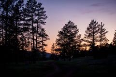 Заход солнца AZ Стоковое фото RF