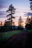 Заход солнца AZ Стоковые Изображения