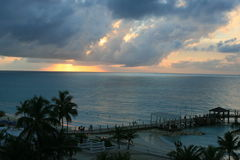 Заход солнца Bahama стоковое фото rf
