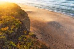 Заход солнца Baleal Стоковое фото RF