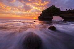 заход солнца bali Индонесии Стоковое Изображение RF