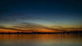 Заход солнца Barrie Стоковая Фотография