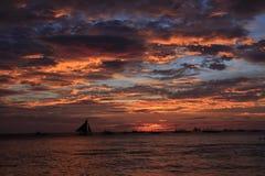 Заход солнца boracay Стоковое Фото