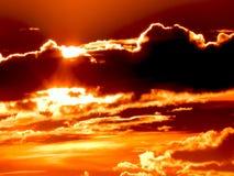 Заход солнца cиенны стоковое фото