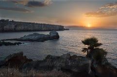 Заход солнца Calarossa Стоковые Изображения RF