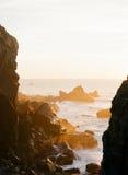 заход солнца california золотистый Стоковые Изображения