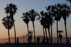 заход солнца california Стоковые Изображения RF