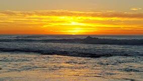 заход солнца california Стоковое фото RF