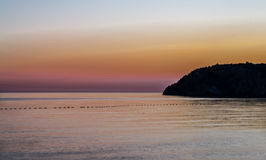 Заход солнца Canj Стоковые Фото