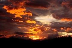 Заход солнца Central Valley 1 Коста-Рика Стоковое Изображение RF
