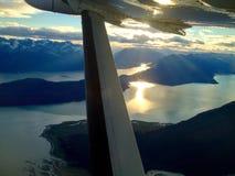 Заход солнца Chilkat Стоковые Изображения RF
