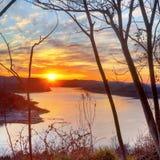 Заход солнца CHL Стоковое Фото
