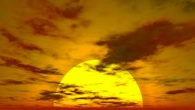 Заход солнца Cloudscape акции видеоматериалы