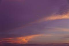 Заход солнца Cloudscape Стоковое фото RF