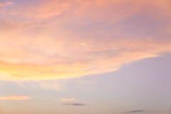 Заход солнца Cloudscape Стоковые Изображения RF