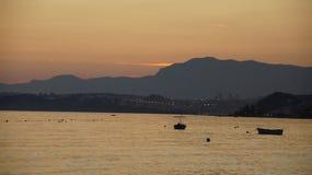 Заход солнца Colorfull Стоковое фото RF