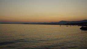 Заход солнца Colorfull Стоковая Фотография