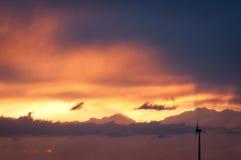 Заход солнца Colourfull Стоковое Изображение