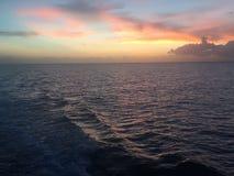 Заход солнца Cozumel Стоковое Фото
