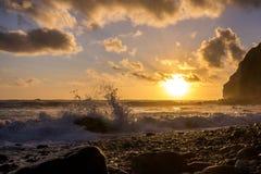 Заход солнца, Dana Point, Калифорния Стоковая Фотография RF