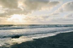 Заход солнца Del Mar Стоковые Изображения RF