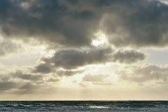Заход солнца Del Mar Стоковые Изображения