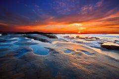 заход солнца diego san стоковое фото rf