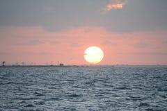 Заход солнца Firey Стоковое фото RF