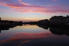 заход солнца florence Стоковые Фото