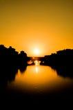 заход солнца florence Стоковые Фотографии RF