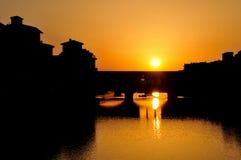 заход солнца florence Стоковое Изображение RF