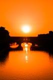заход солнца florence Стоковые Изображения RF