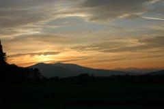Заход солнца Fort William Стоковые Изображения