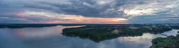 Заход солнца Gaston озера Стоковая Фотография