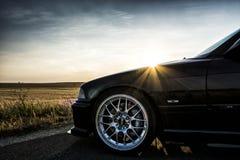 Заход солнца gt supersprint зверя автомобиля BMW E36 M3 sportcar участвует в гонке coupe 2doors Стоковые Фото