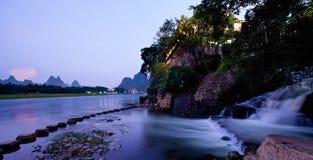 Заход солнца Guilin Yangshuo Стоковое фото RF
