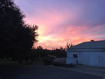 Заход солнца Hanford стоковая фотография rf