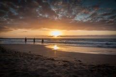 Заход солнца Hapuna стоковая фотография rf