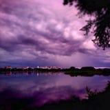 Заход солнца Harrisburg Стоковые Изображения RF