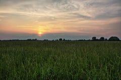 Заход солнца HDR Стоковые Изображения RF