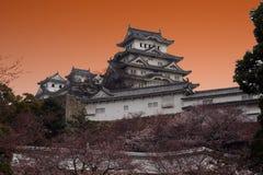 Заход солнца Himeji Стоковые Изображения RF