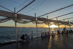 Заход солнца ibiza Сан Антонио Стоковые Фотографии RF