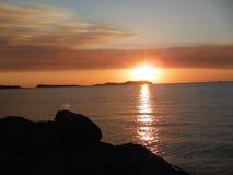 Заход солнца Ibiza Стоковое Фото