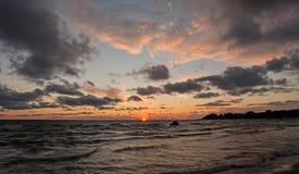 Заход солнца II Стоковое Фото