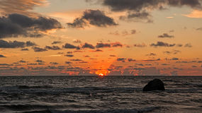 заход солнца III стоковое изображение rf