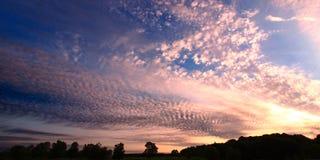 заход солнца illinois Стоковое фото RF