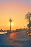 заход солнца istanbul Стоковая Фотография