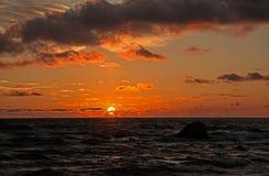 Заход солнца IV Стоковые Изображения
