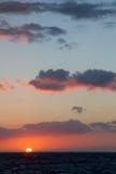 заход солнца kauai Стоковые Изображения RF