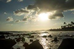 заход солнца kauai Стоковое фото RF